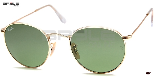 93056f128 Ray Ban RB 3447 001 ROUND METAL 47 | Bryle-Online.cz