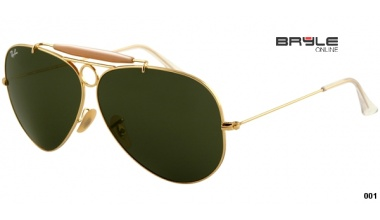 Ray Ban RB 3138 001 SHOOTER 58