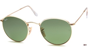 Ray Ban RB 3447 001 ROUND METAL